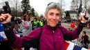 Joan Benoit-Samuelson runs with her fans to celebrate Title IX in Eugene