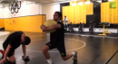 Tony Ramos Cory Clark med ball workout