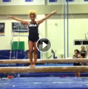 Danusia Francis performs a crazy beam dismount!