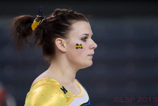 Joanna Sampson of Michigan Gymnastics by Long Shot Photos