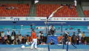 Huang Huidan (CHN) UB Podium Training 2014 Worlds Nanning