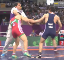 57kg s, Khinchegashvili, Georgia vs Andreyeu, Belarus
