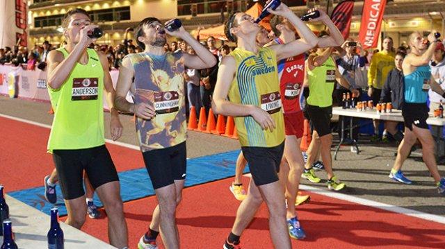 Men's Elite Beer Mile Rundown